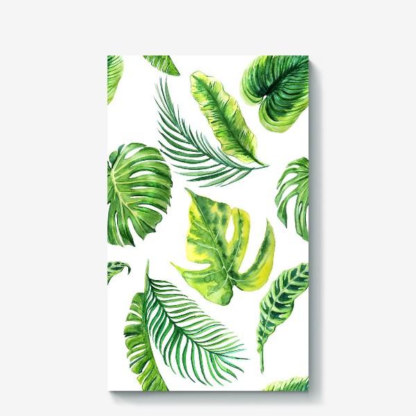 Холст «Тропческе листья»
