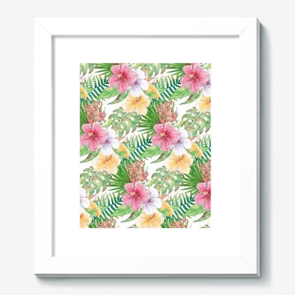 Картина «Тропические цветы - паттерн»