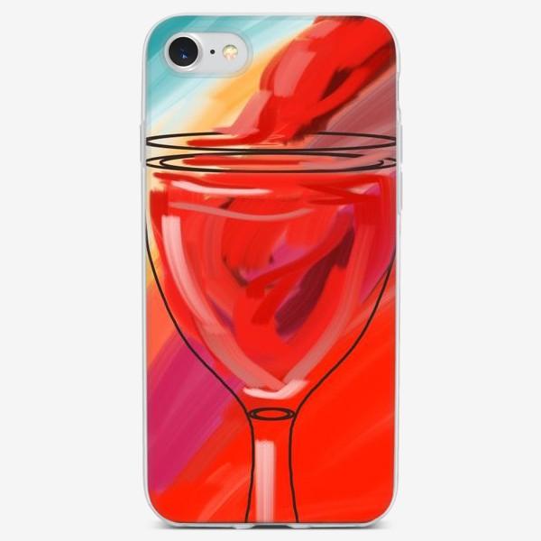 Чехол iPhone «Бокал красного»