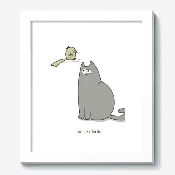 Картина «cat like birds»