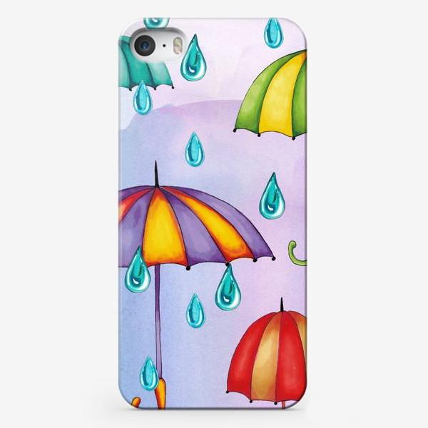 Чехол iPhone «Разноцветные зонтики»