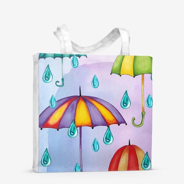 Сумка-шоппер «Разноцветные зонтики»