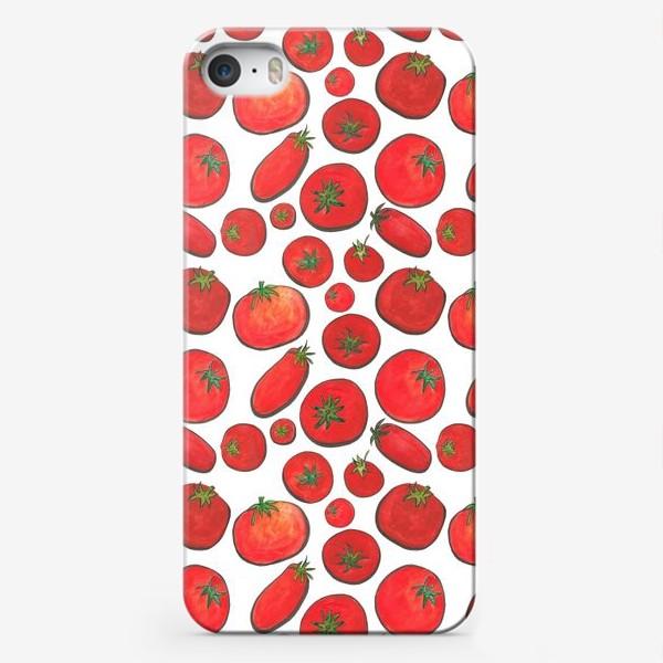 Чехол iPhone «Паттерн урожай томатов»