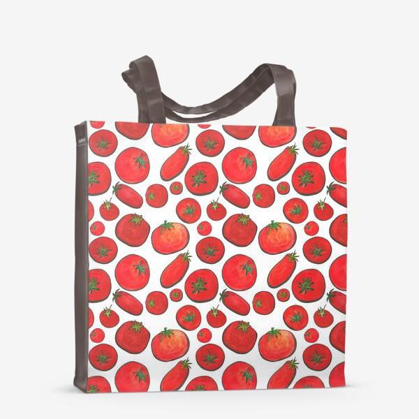 Сумка-шоппер «Паттерн урожай томатов»