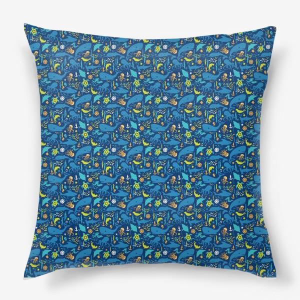 Подушка «В синем море-океане»