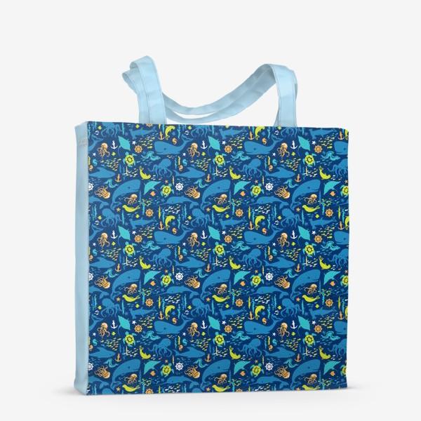 Сумка-шоппер «В синем море-океане»