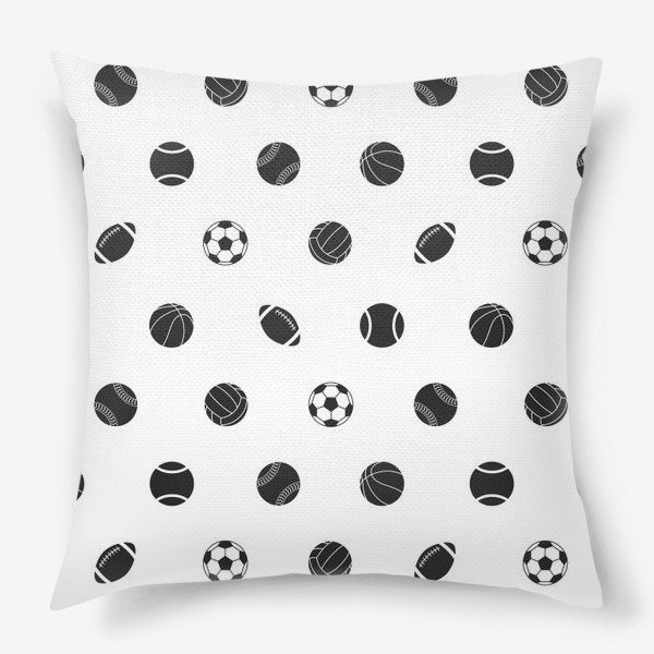 Подушка «Спортивный паттерн 2»