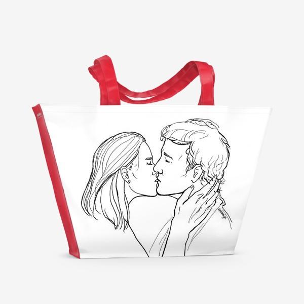 Пляжная сумка «Целую»