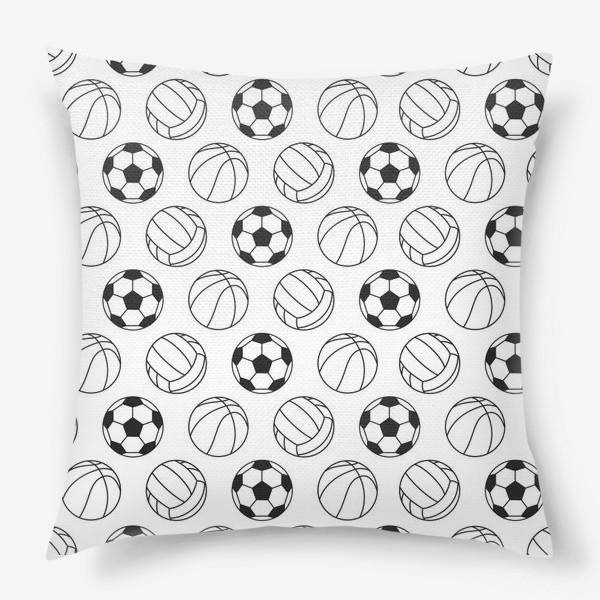 Подушка «Спортивный паттерн»
