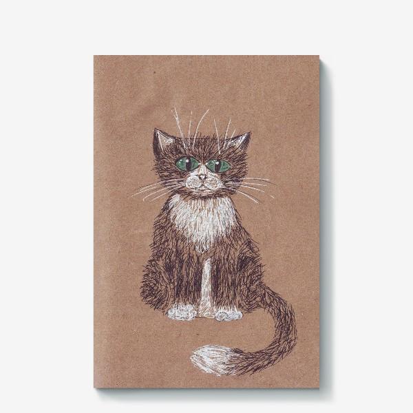 Холст «кот крафт»