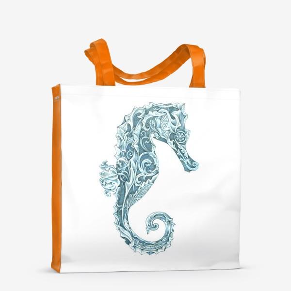Сумка-шоппер «Морской конёк стилизованный»