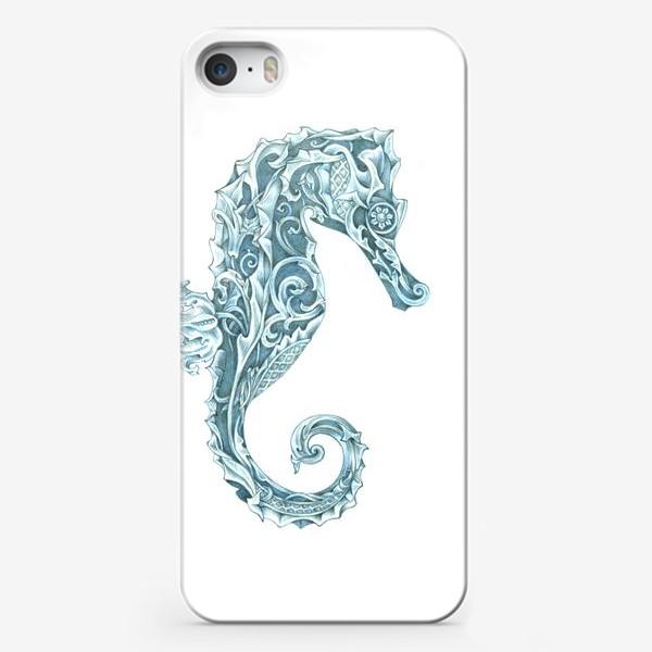 Чехол iPhone «Морской конёк стилизованный»