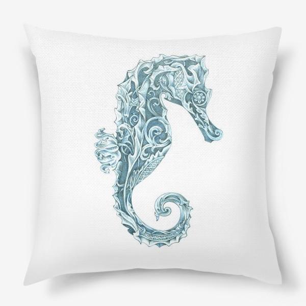 Подушка «Морской конёк стилизованный»