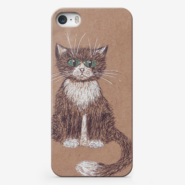 Чехол iPhone «кот крафт»