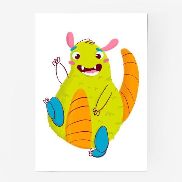 Постер «Hello, cute monster!»