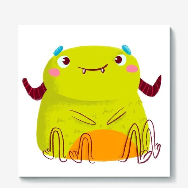 Холст «kawaii green monster»