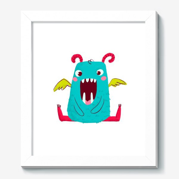 Картина «cute monster with wings»