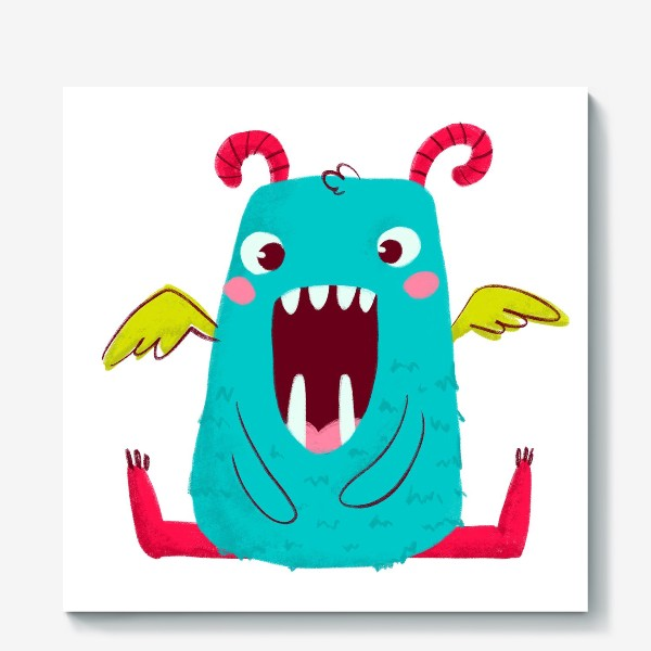 Холст «cute monster with wings»