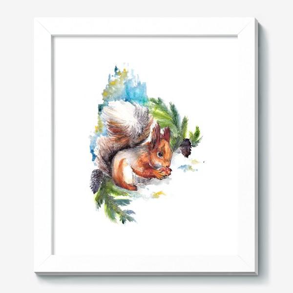 Картина «Белочка с орехом»