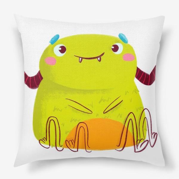 Подушка «kawaii green monster»