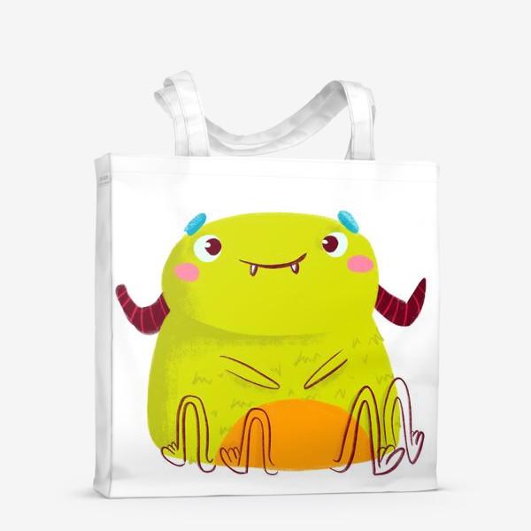 Сумка-шоппер «kawaii green monster»
