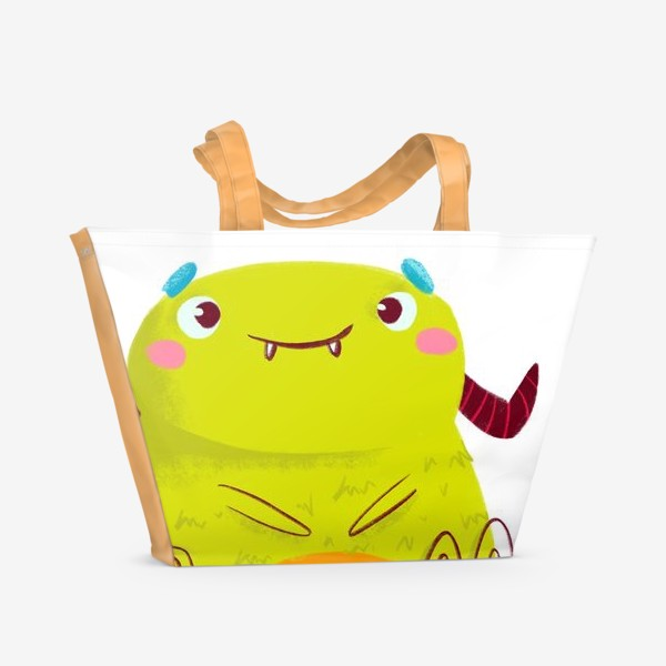 Пляжная сумка «kawaii green monster»