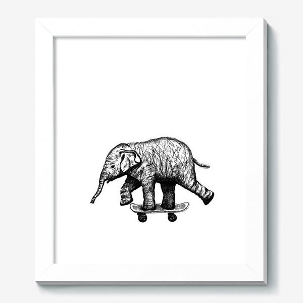 Картина «Слон на скейте»