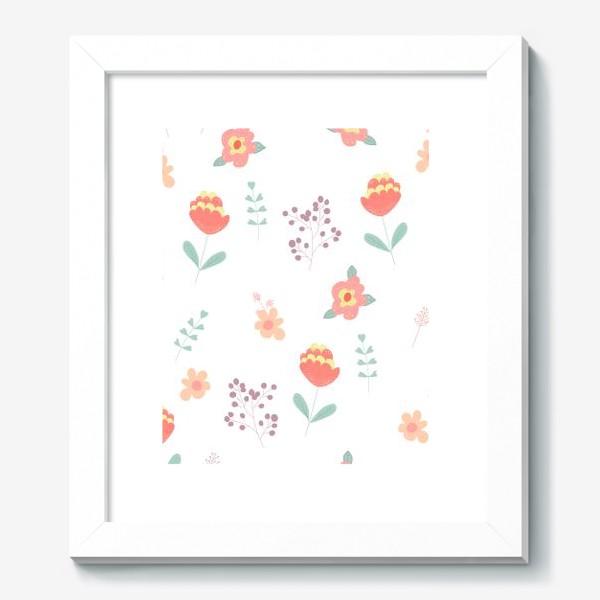 Картина «Летние цветы. Паттерн»