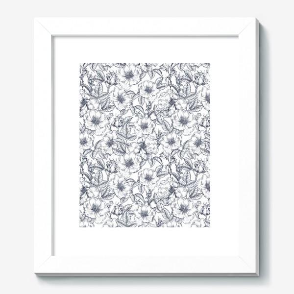 Картина «Шиповник. Графика. Цветы»