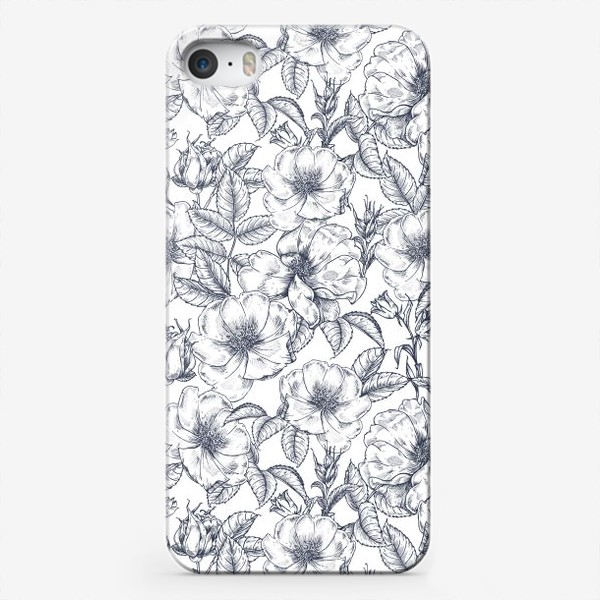 Чехол iPhone «Шиповник. Графика. Цветы»