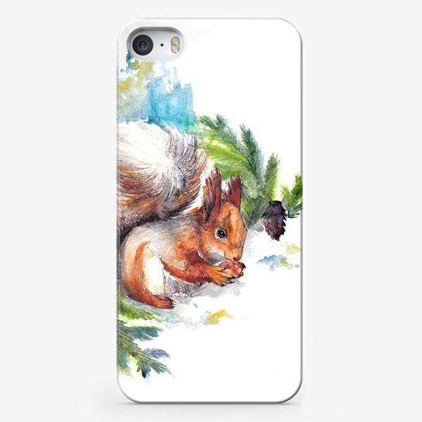 Чехол iPhone «Белочка с орехом»