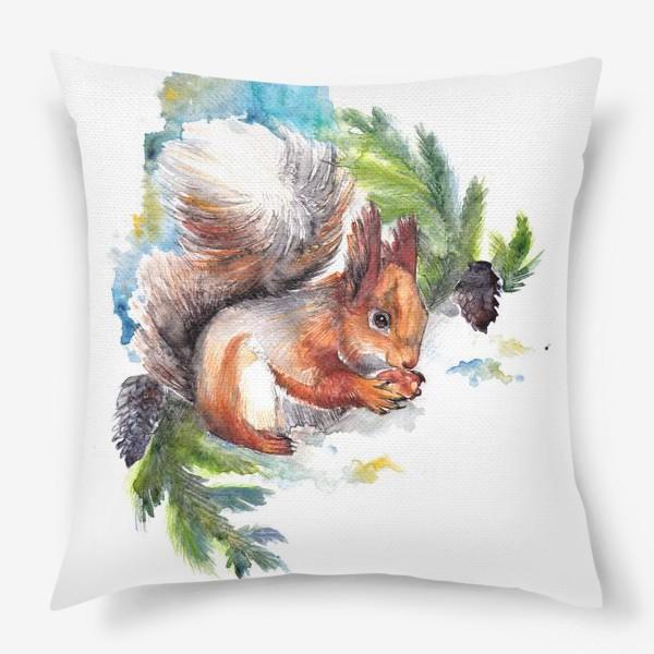 Подушка «Белочка с орехом»