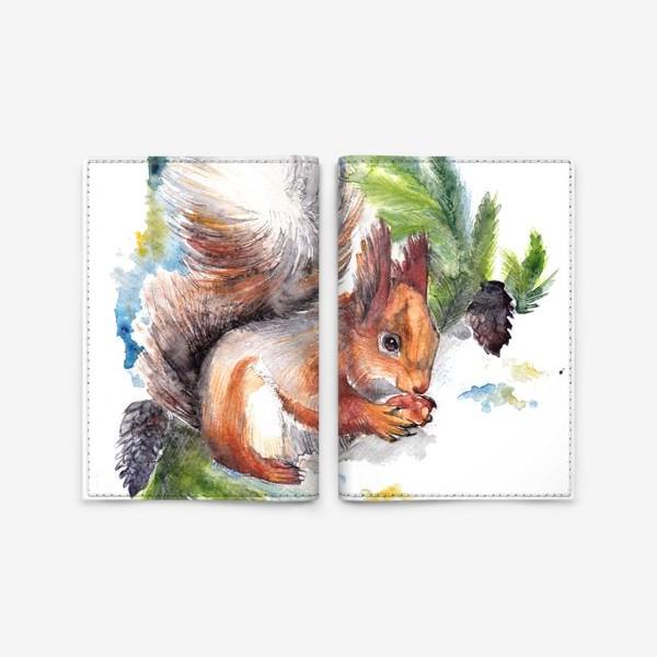 Обложка для паспорта «Белочка с орехом»