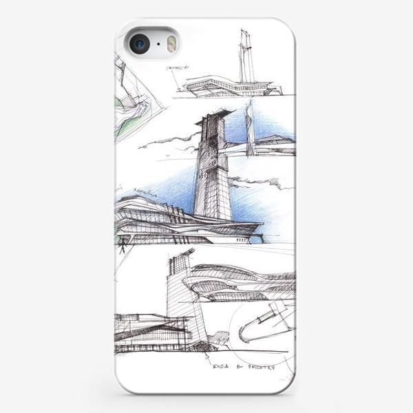 Чехол iPhone «Архитектурный эскиз»