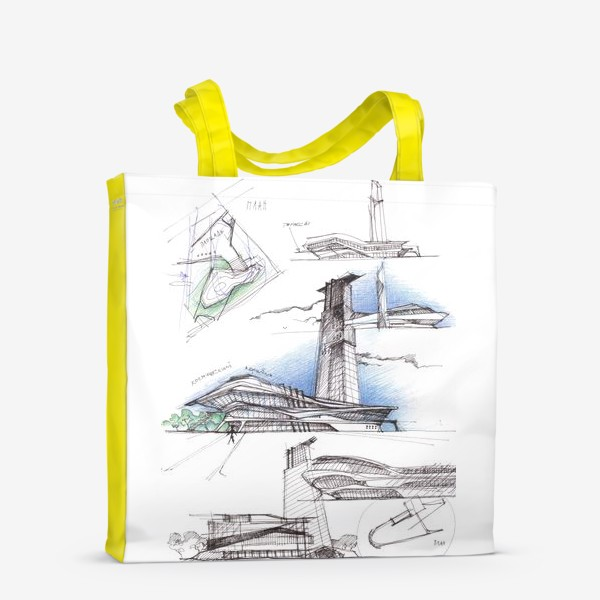 Сумка-шоппер «Архитектурный эскиз»