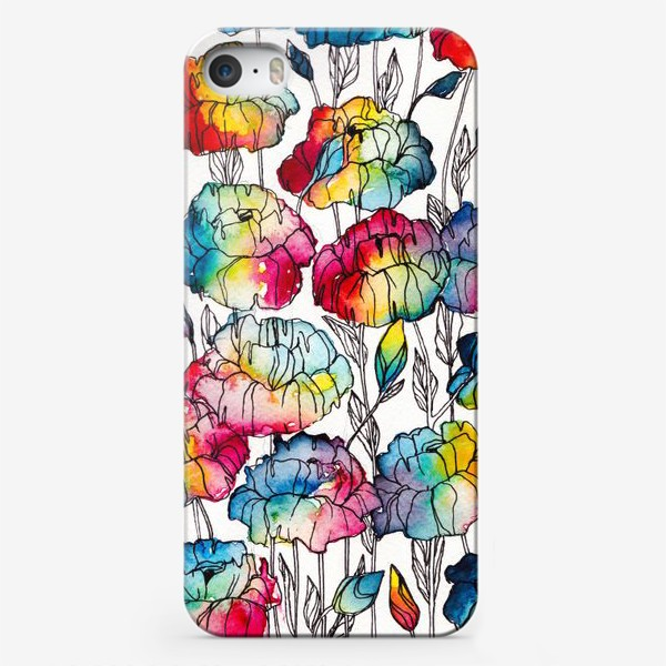 Чехол iPhone «Цветы радуги»