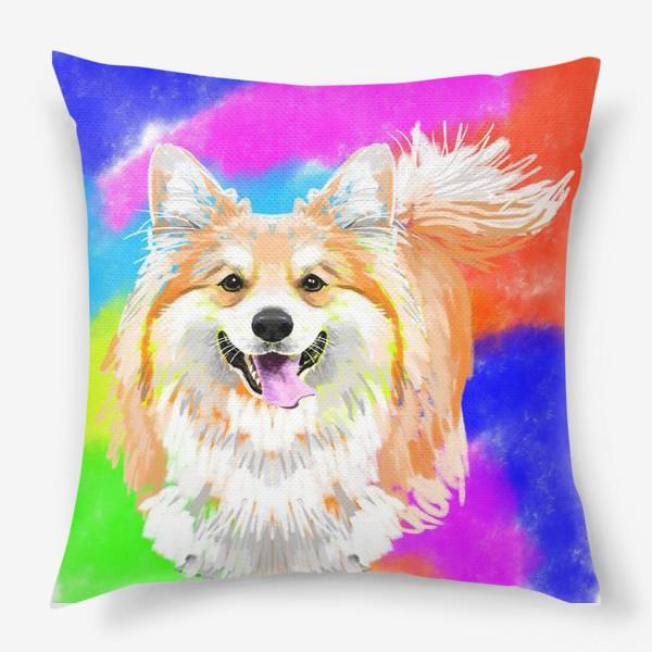 Подушка «Пес корги»