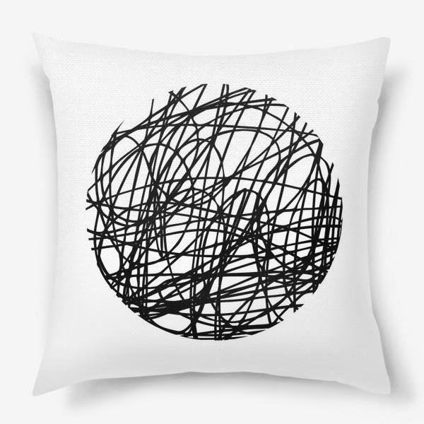 Подушка «Хаос графика»