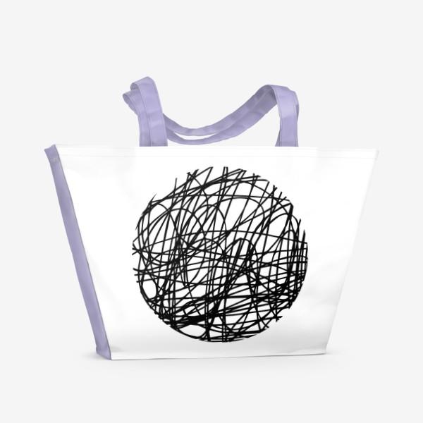 Пляжная сумка «Хаос графика»