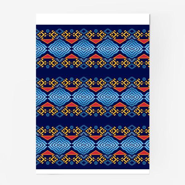 Постер «Этнический геометрический паттерн»