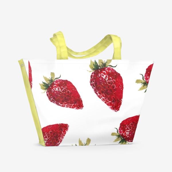 Пляжная сумка «Клубнички»