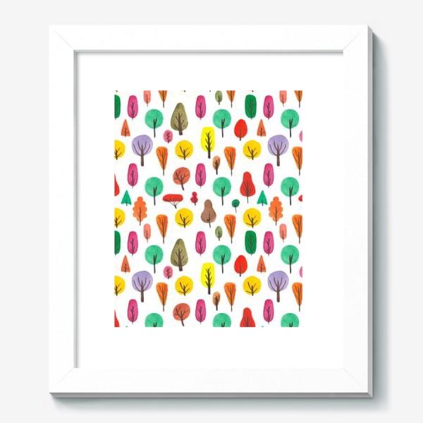 Картина «Паттерн цветные деревья»