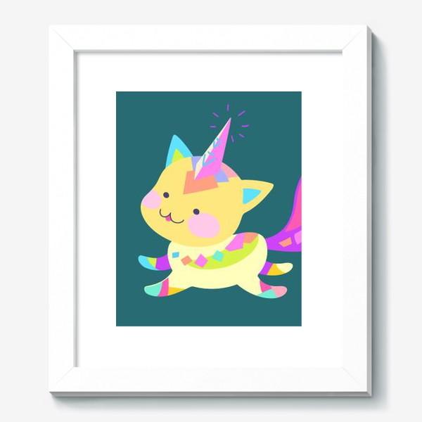 Картина «Маленький котик единорог»