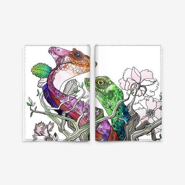 Обложка для паспорта «Рептилии»