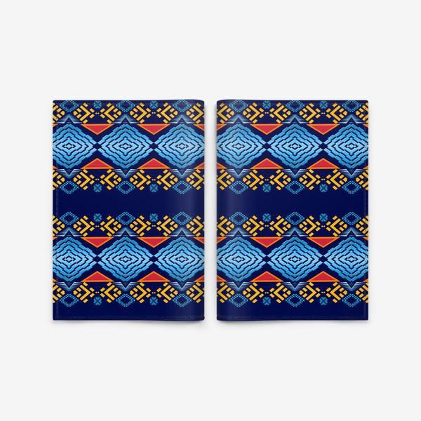 Обложка для паспорта «Этнический геометрический паттерн»