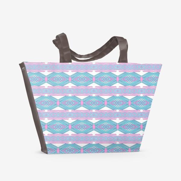 Пляжная сумка «Этнический геометрический паттерн»
