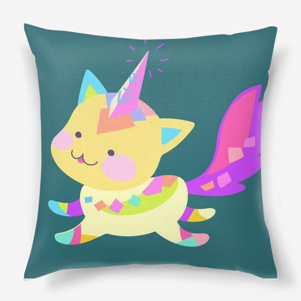 Подушка «Маленький котик единорог»