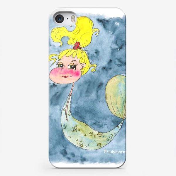 Чехол iPhone «Русалка и краб»