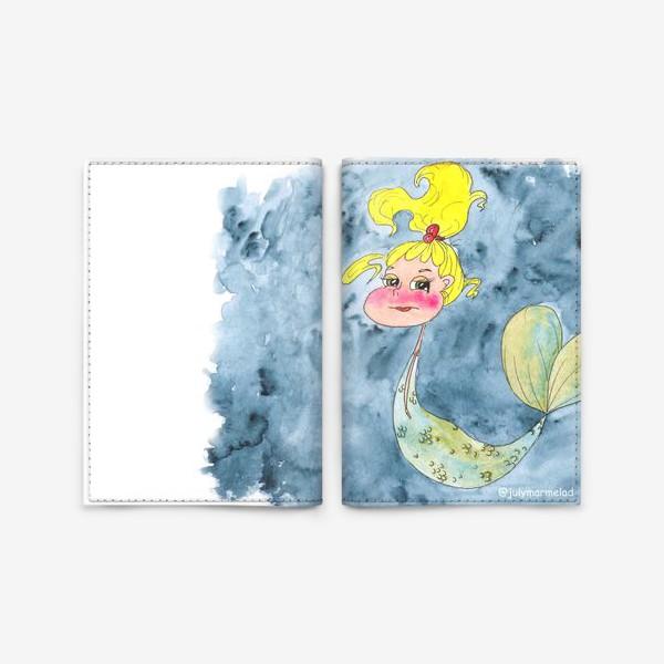 Обложка для паспорта «Русалка и краб»