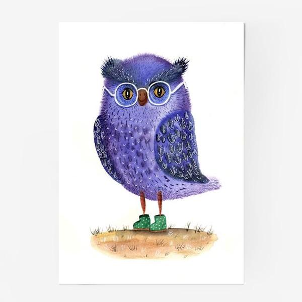 Постер «Синяя сова»